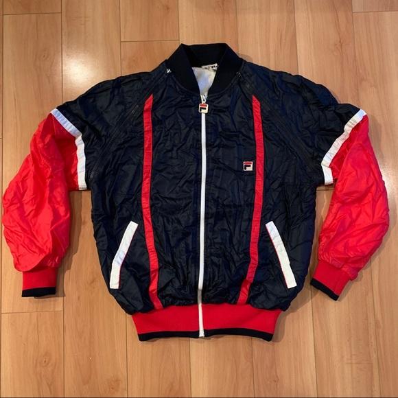 VINTAGE FILA zip up windbreaker track jacket vest